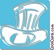 top hat Vector Clipart image