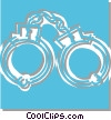 Vector Clip Art graphic  of a handcuffs