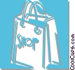 Vector Clip Art image  of a shopping bag