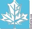 Vector Clipart graphic  of a maple leaf