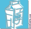 carton of milk Vector Clipart graphic