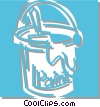 bucket of paint Vector Clip Art graphic