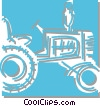 Vector Clipart illustration  of a tractor