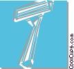 Vector Clip Art graphic  of a razor