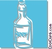 bottle of beer Vector Clipart illustration