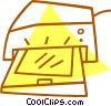 computer printer Vector Clipart illustration