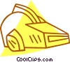 Vector Clip Art graphic  of a spacemen helmets