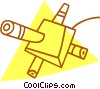 Vector Clip Art graphic  of a satellites