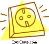 Vector Clipart illustration  of a electrical plugs