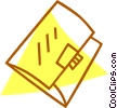Vector Clipart picture  of a file folders