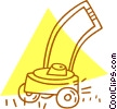 Vector Clipart graphic  of a lawnmower