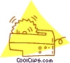 Vector Clipart image  of a electric saw