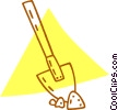 Vector Clipart graphic  of a shovel