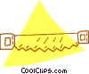 Vector Clipart image  of a hand saw