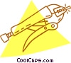 Vector Clip Art image  of a vice gripes