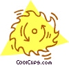Vector Clip Art graphic  of a saw blade