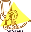 Vector Clipart graphic  of a garden hose