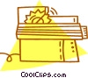 Vector Clipart illustration  of a electric saw