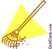 Vector Clip Art graphic  of a rake