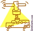 Vector Clipart image  of a clamp