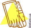 Vector Clip Art image  of a safety gloves