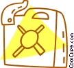 Vector Clipart picture  of a gas can