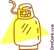 Vector Clip Art graphic  of a propane tank