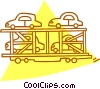 Vector Clip Art picture  of a transporting cars