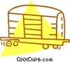 Vector Clipart image  of a box car