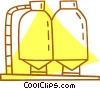 silos Vector Clipart picture