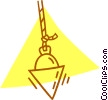 Vector Clipart graphic  of a plumb bob