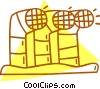 Vector Clip Art graphic  of a exhaust vents