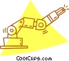 robotic arm Vector Clipart graphic
