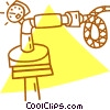 Vector Clipart illustration  of a timer on a pipe/hose