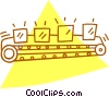 conveyor belt Vector Clipart illustration