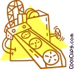 Vector Clipart image  of a conveyor belt