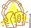 Vector Clip Art image  of a ear protection