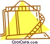 Vector Clipart graphic  of a barns and farming