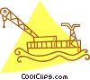 Vector Clipart image  of a shipping crane on the water