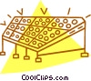 Vector Clip Art image  of a control panel