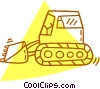 Vector Clip Art image  of a heavy machinery