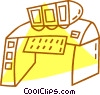 Vector Clipart graphic  of a control center