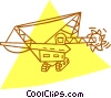 Vector Clip Art image  of a digging machine