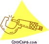 Vector Clip Art graphic  of a c-clamp