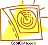 Vector Clip Art graphic  of a radar screen