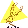 Vector Clipart illustration  of a wire cutters