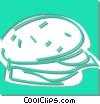 Vector Clip Art image  of a hamburger