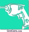 Vector Clip Art image  of a electric drill