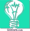 Vector Clipart graphic  of a light bulb