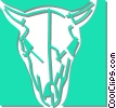 cows skull Vector Clip Art picture